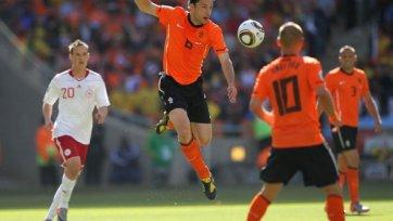 Микаэль Крон-Дели - лучший в матче Голландия - Дания