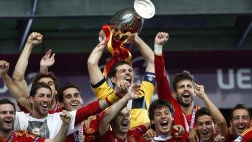 Сборная Испании установила рекорд по голам в финалах Евро