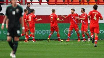 Сборная России одержала уверенную победу над Северной Ирландией