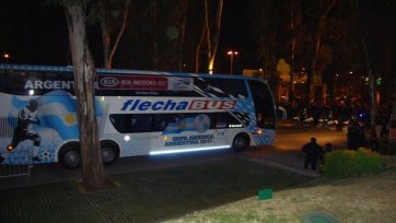 Автобус сборной Аргентины был атакован