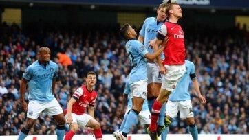 В матче «Манчестер Сити» - «Арсенал» забивали только защитники