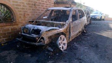 Фанаты «Лацио» сожгли два автомобиля Диаките