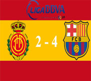Мальорка - Барселона (2:4) (11.11.2012) Видео Обзор