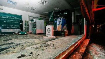 Фанатская любовь. «Болельщики» «Палмейрас» сожгли клубный магазин