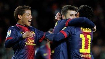 «Барселона» без труда вышла в 1/8 финала Кубка Испании