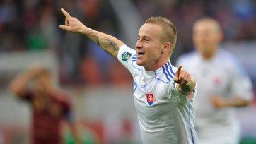 Словацкий футболист поспорит с Фалькао и Неймаром за гол года!