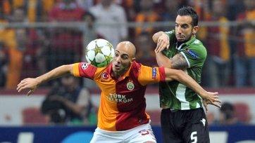 Турецкий «Галатасарай» обыгрывает «Брагу»