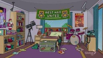 «Вест Хэм» попал в легендарный мультик о Симпсонах