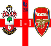 Саутгемптон – Арсенал (1:1) (01.01.2013) Видео Обзор