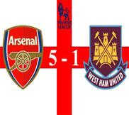 Арсенал - Вест Хэм (5:1) (23.01.2013) Видео Обзор