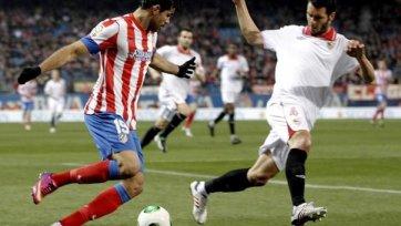 Три пенальти и три красных карточки решили исход матча «Атлетико» - «Севилья»