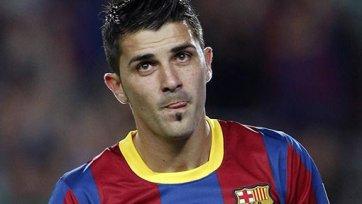 Давид Вилья не поможет «Барселоне» в матче Лиги чемпионов