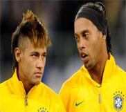 Роналдиньо vs Неймар - Бразильская техника (Видео)