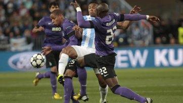 «Малага» впервые вышла в четвертьфинал Лиги чемпионов
