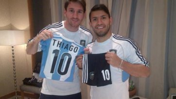 Лео Месси хотел бы играть с Агуэро в одной команде