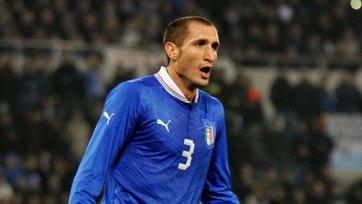 Сборная Италии не сможет рассчитывать на Кьеллини в матче против Бразилии
