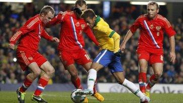 Россия не удержала победу в матче с «пентакампеонами»
