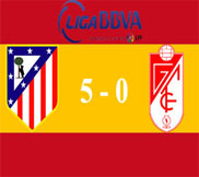 Атлетико - Гранада (5:0) (14.04.2013) Видео Обзор