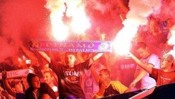 Перед матчем «Металлист»- «Динамо» фанаты сошлись стенка на стенку (видео)