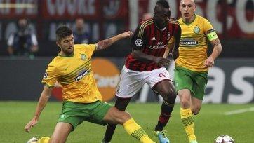 «Милан» не без проблем обыгрывает «кельтов»