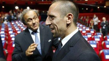 Платини: «Рибери будет главным претендентом на «Золотой Мяч»