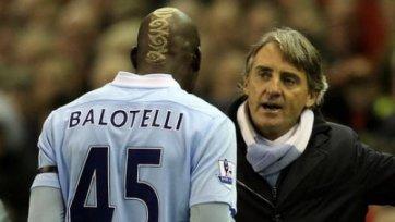 Манчини: «Балотелли очень легко вывести из себя»