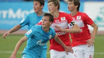 В матче молодежного первенства «Зенит» обыграл «Спартак»