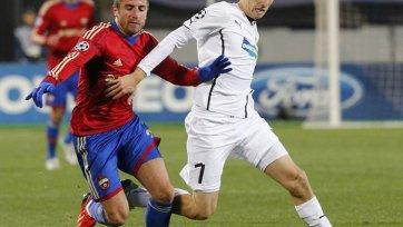 ЦСКА не без проблем обыгрывает чешскую «Викторию»