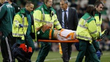 Гибсон получил серьезную травму в игре за сборную