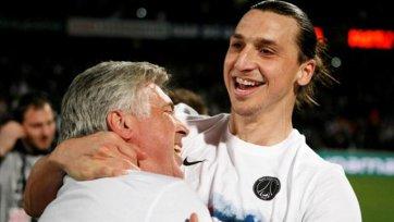 Анчелотти: «Ибрагимович может выиграть «Золотой мяч»