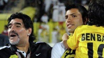 Марадона назвал Агуэро слабаком