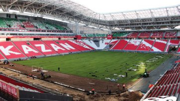 «Казань-Арена» обзавелась новым газоном