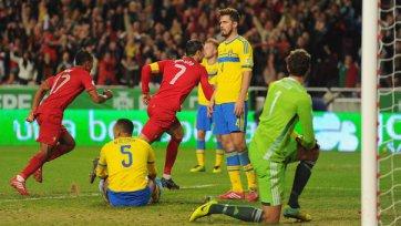 Гол Роналду приносит Португалии победу над Швецией