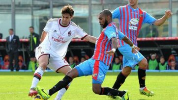 «Катания» - «Милан» - четыре гола, удаление и игра удалась