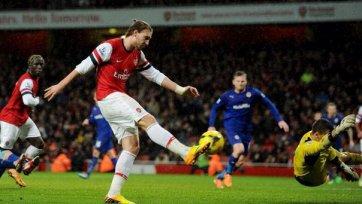«Арсенал» теряет Бендтнера на несколько недель