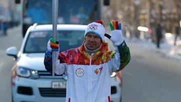 Зырянов поучаствовал в эстафете олимпийского огня