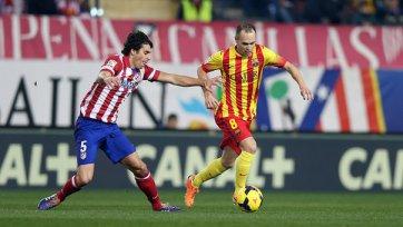 Иньеста травмировался в матче с «Атлетико»