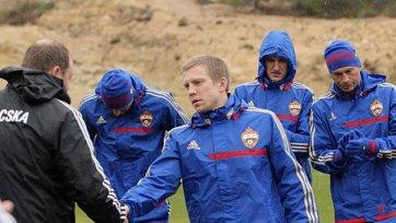 ЦСКА готовится под аккомпанемент испанского дождя
