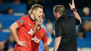 «Манчестер Юнайтед» три матча проведет без Видича