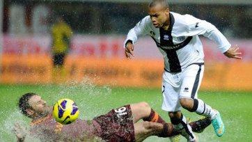 Матч «Рома» - «Парма» будет доигран весной