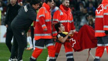 «Атлетико» не сможет рассчитывать на Тьягу в матче против «Милана»