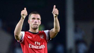Британские СМИ: Игроки «Арсенала» хотят видеть Подольски в качестве центрфорварда