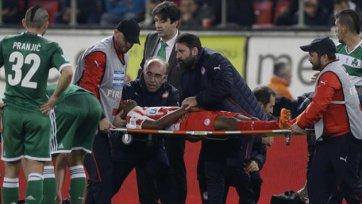 Футболист «Олимпиакоса» потерял сознание во время матча