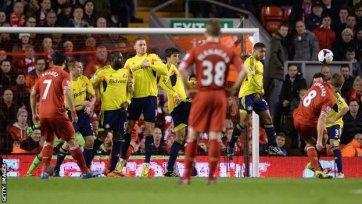 «Ливерпуль» не без приключений обыгрывает «Сандерленд»