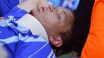 У Олега Гусева диагностировано сотрясение, перелом и выбит зуб