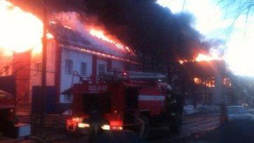 На базе «Мордовии» произошел пожар