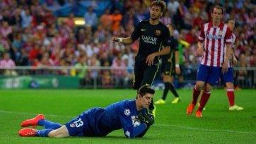 Если «Атлетико» попадет на «Челси», то Куртуа играть не сможет
