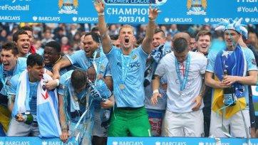 Как «Сити» золото Премьер-Лиги отмечали (видео)