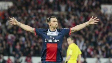 Златан Ибрагимович второй год подряд лучший «снайпер» Лиги 1