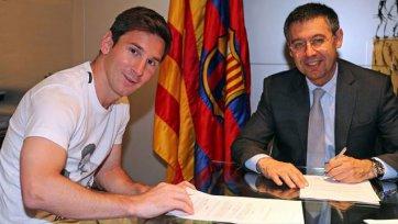 Официально: Месси заключил новое соглашение с «Барселоной»